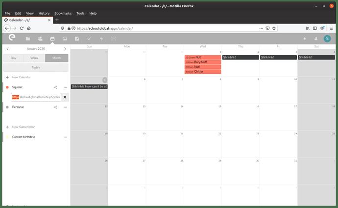 Calendardblclick
