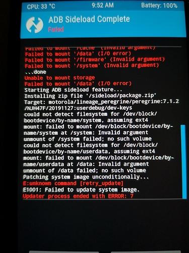 zip fails screen moto G