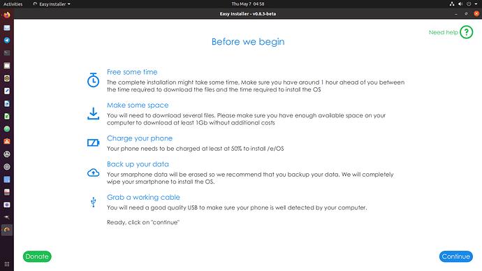 easy_installer main screen