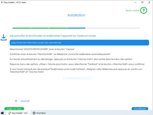 Déverrouiller le Bootloader et redémarrer l'appareil en Fastboot mode
