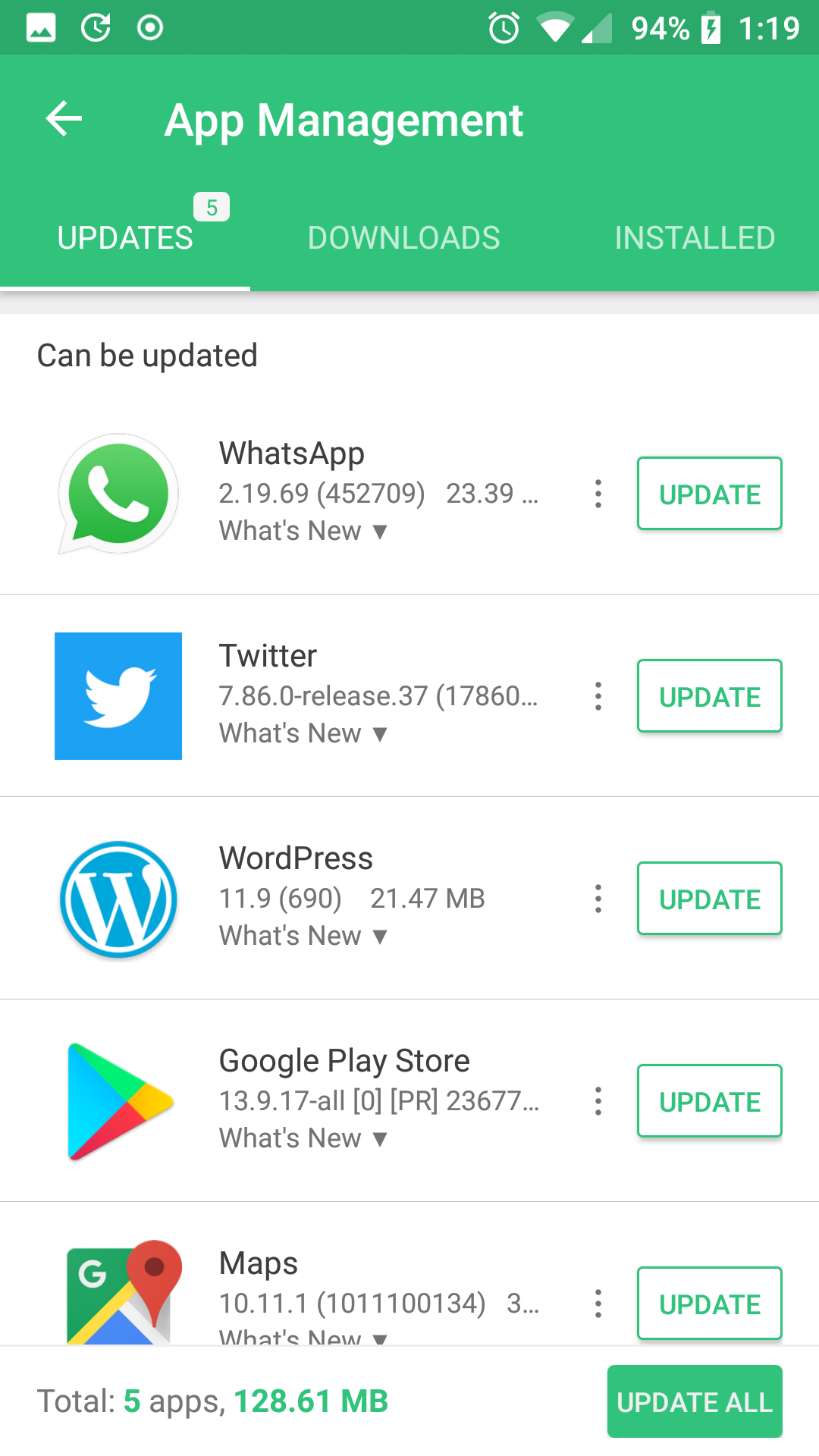 Why does the google app store appear in installed Apps